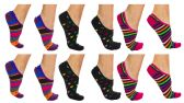 120 of Yacht & Smith Womens Cotton No Show Loafer Socks With Anti Slip Silicone Strip Assorted Prints
